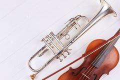 Instrument av orkester- och kopieringsutrymme arkivfoto