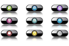 Instrument buttons Stock Photography