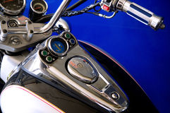 Instrument control panel of a motorcycle Royalty Free Stock Photos