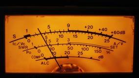 Instrument d'affichage de cadran du mètre de niveau d'émetteur-récepteur et de signal clips vidéos