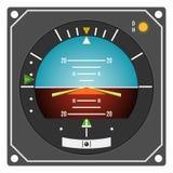 Instrument d'avion - directeur de vol indicateur Image libre de droits