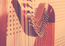 Instrument d'harpe Photo stock