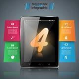 Instrument de Digital, icône de comprimé de smartphone Affaires Infographic Photographie stock