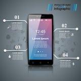 Instrument de Digital, icône de comprimé de smartphone Affaires Infographic Photo stock