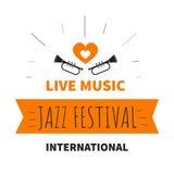 Instrument de musique d'isolement de trompette d'icône de festival de jazz de musique en direct illustration de vecteur