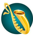 Instrument de musique de saxophone Illustration Libre de Droits