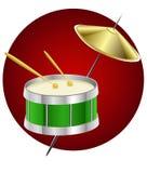 Instrument de musique de tambour Illustration de Vecteur