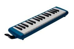 Instrument de musique Melodica d'isolement sur le fond blanc image libre de droits