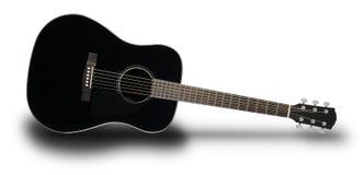 Instrument de musique - ombre noire de guitare acoustique Photo stock
