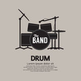 Instrument de musique réglé de tambour Photo stock