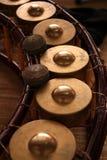 Instrument de musique thaïlandais de gong Photos libres de droits