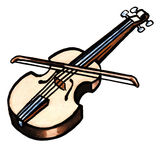 Instrument de violon illustration stock