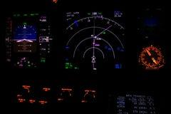 Instrument de vol la nuit images stock