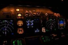Instrument de vol la nuit Photographie stock