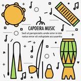 Instrument för brasilianCapoeira musik vektor illustrationer