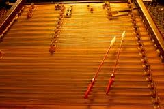 Instrument för Cimbalom radmusik Arkivbild