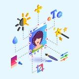 Instrument för fotoet som redigerar instrument för ett socialt nätverk vektor illustrationer