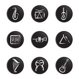 Instrument icon set Stock Photo