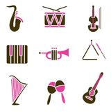 Instrument icon set Royalty Free Stock Images
