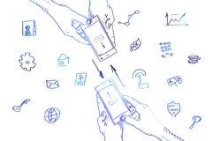 Instrument intelligent de téléphone se tenant dans les mains Image stock