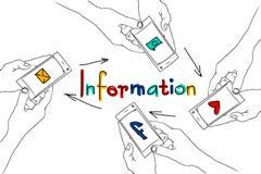 Instrument intelligent de téléphone se tenant dans les mains Images libres de droits