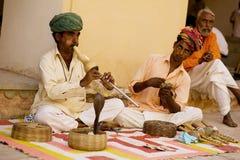 Ludzie w ulicach India Zdjęcia Stock