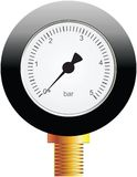 Instrument for measuring pressure. Vector Royalty Free Stock Photo