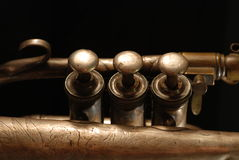 Instrument musical de cornet. Image stock