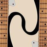Instrument muzyczny - Dwa sylwetek gitara elektryczna Fotografia Stock