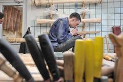 Instrument muzyczny harfy produkcja Obraz Stock