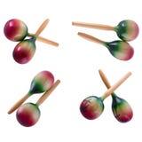 Instrument muzyczny marakasy na odosobnionym tle Fotografia Royalty Free