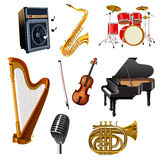 Instrument muzyczny ustawiający royalty ilustracja