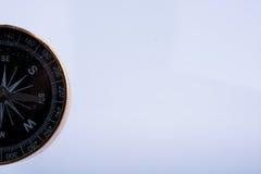 Instrument noir de boussole comme instrument pour déterminer le directio Image stock