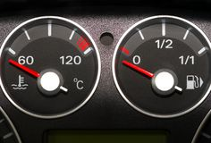 Instrument panel of the car Royalty Free Stock Images