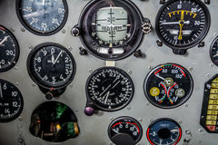 Instrument panel in the cockpit Royalty Free Stock Photo