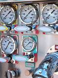 Instrument panel on fire engine Royalty Free Stock Image