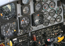 Instrument Panel in Jet Fighter Stock Images