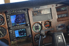 All you need to know. Instrument panel of a light aircraft showing approach to Greymouth, New Zealand Stock Image