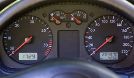 Instrument panel on modern car dashboard Royalty Free Stock Photo