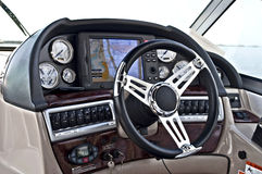 Instrument panel of a motor boat cockpit Stock Images