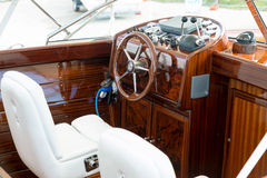 Instrument panel and steering wheel Royalty Free Stock Photos
