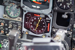 Instrument Panels in C-130. Instruments inside a military aircraft stock images