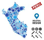 Instrument Peru Map Mosaic Vector Illustratie