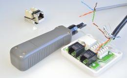 Instrument pour le réseau informatique d'installation Photos libres de droits