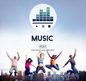 Instrument- rytm Melody Audio Concept för musikkultur Arkivbild