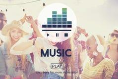 Instrument- rytm Melody Audio Concept för musikkultur Royaltyfri Foto