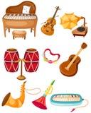 instrument ställde in stock illustrationer