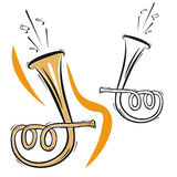 instrument szereg muzyki royalty ilustracja