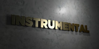 Instrumental - Gold text on black background - 3D rendered royalty free stock picture. This image can be used for an online website banner ad or a print Stock Images