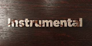 Instrumental - grungy wooden headline on Maple  - 3D rendered royalty free stock image. This image can be used for an online website banner ad or a print Stock Images